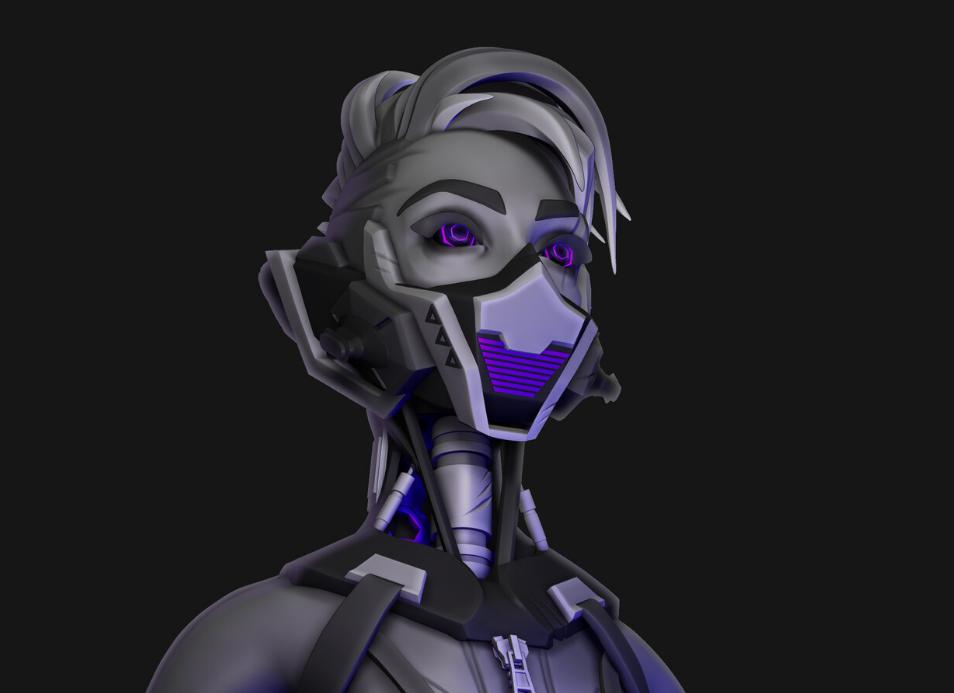 Stylized Sci-fi Girl