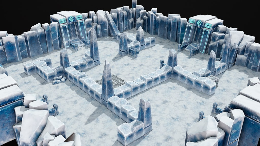 Ice level for a mobile game