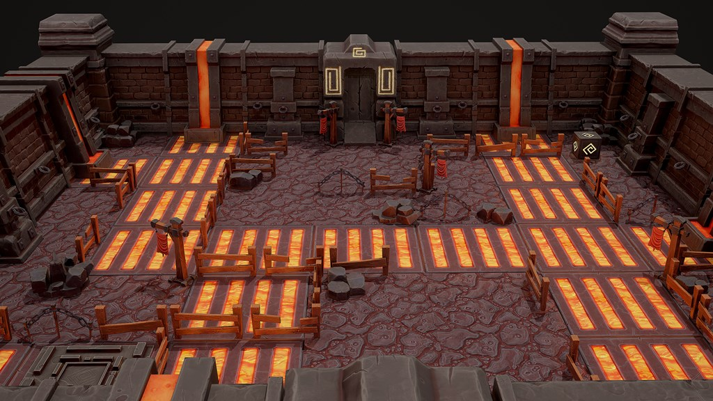 Lava level for a mobile game